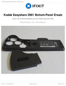 Kodak Easyshare Z981 Bottom-Panel Ersatz
