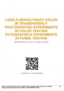laszlo moholynagy color in transparency ...  AWS