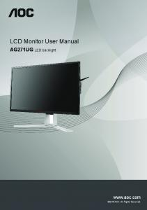 LCD Monitor User Manual - AOC