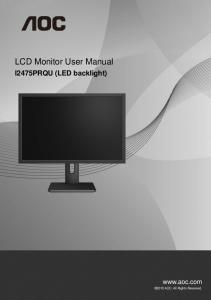 LCD Monitor User Manual  AWS