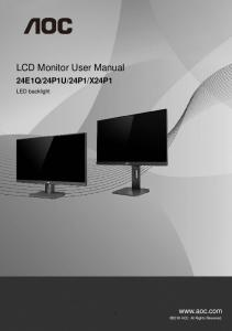 LCD Monitor User Manual - Coolblue