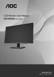 LCD Monitor User Manual
