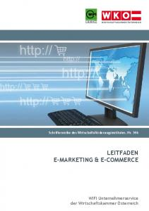 Leitfaden e-Marketing & e-CoMMerCe - WKO