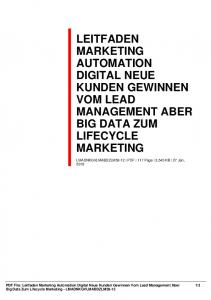 leitfaden marketing automation digital neue kunden
