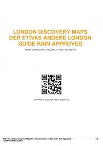 london discovery maps der etwas andere london ...  AWS
