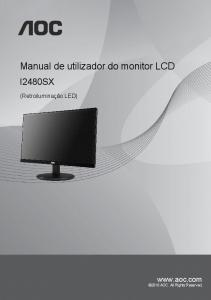 Manual de utilizador do monitor LCD