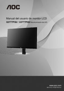 Manual del usuario de monitor LCD - AOC