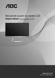 Manual del usuario de monitor LCD  AWS