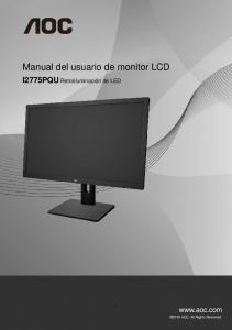 Manual del usuario de monitor LCD