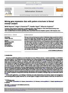 Mining gene expression data with pattern ... - Semantic Scholar