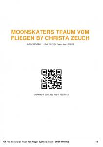 moonskaters traum vom fliegen by christa zeuch  AWS