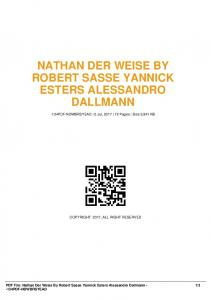 nathan der weise by robert sasse yannick esters ...  AWS