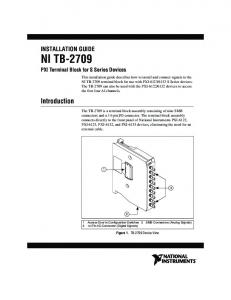 NI TB-2709 Installation Guide - National Instruments