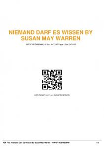 niemand darf es wissen by susan may warren -86pdf ...  AWS