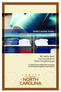 North Carolina Textile and Apparel Resource Guide