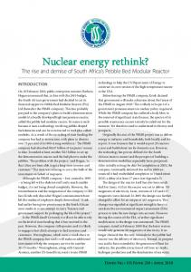 Nuclear energy rethink? - ISS Africa