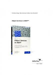 Object Services in ABAP