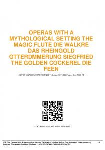 operas with a mythological setting the magic flute die ...  AWS