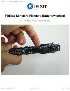 Philips Sonicare Flexcare Batteriewechsel