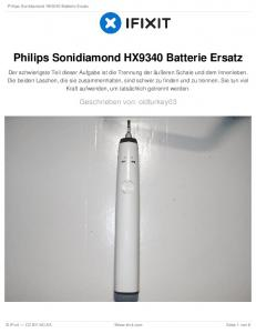Philips Sonidiamond HX9340 Batterie Ersatz