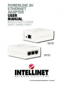 POWERLINE AV ETHERNET ADAPTER USER MANUAL