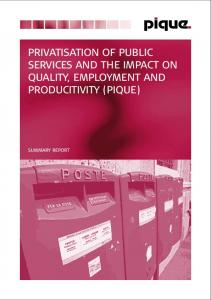 privatisation of public services and the impact on quality, employment ...