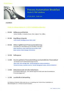 Process Automation Breakfast - Act-On
