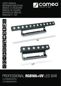 professional rgbwa+uv led bar - Prodance