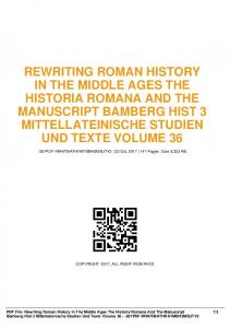 rewriting roman history in the middle ages the ...  AWS