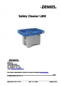 Safety Cleaner L800