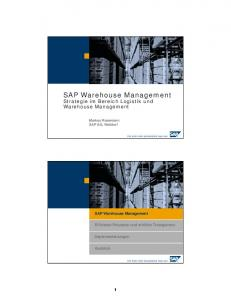 SAP Warehouse Management - Logistik Heute