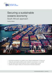 Securing a sustainable oceans economy: South