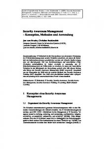 Security Awareness Management – Konzeption ... - Semantic Scholar