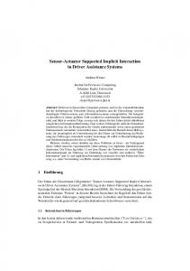 Sensor-Actuator Supported Implicit Interaction in ... - Semantic Scholar