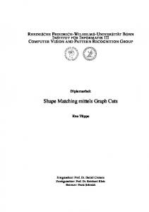 Shape Matching mittels Graph Cuts - Computer Vision Group