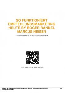 so funktioniert empfehlungsmarketing heute by roger ...  AWS