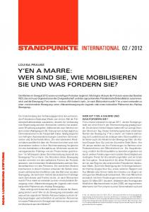 StandpunktE INTERNATIONAL y'en a marre - Rosa-Luxemburg-Stiftung