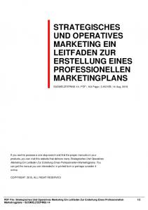 strategisches und operatives marketing ein leitfaden