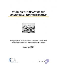 Study on the impact of the CAD - FINAL ... - European Commission