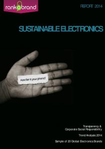 Sustainable Electronics - Rank a Brand