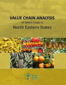 SWOT Analysis of Agribusiness Scenario in North East ... - SFAC India