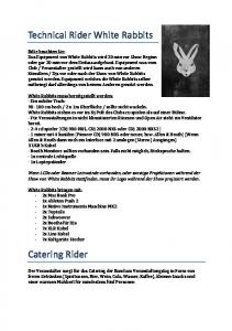 Technical Rider White Rabbits Catering Rider