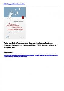 Testen von Data-Warehouse- und Business-Intelligence-Systemen