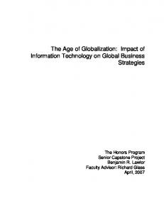 The Age of Globalization: Impact of Information Technology on Global ...