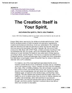 The Creation Itself is Your Spirit - TheyFly.com