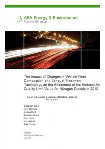 The impact of changes in vehicle fleet and treatment technology on the ...