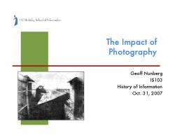The Impact of Photography - Courses