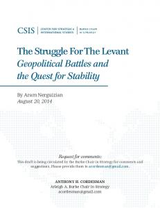 The Struggle For The Levant Geopolitical Battles and