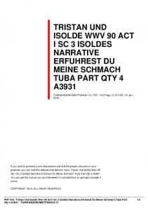 tristan und isolde wwv 90 act i sc 3 isoldes narrative ...  AWS