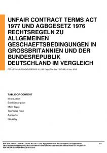 unfair contract terms act 1977 und agbgesetz 1976 ...  AWS
